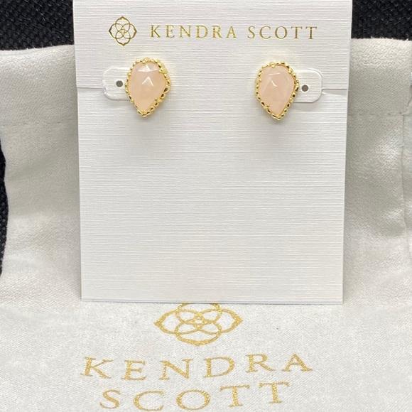 New Kendra Scott Gold Tessa in Rose Quartz